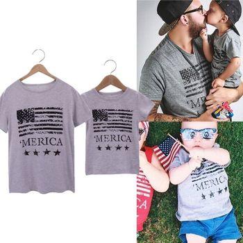 f602ee6f4b9df59 Новинка 2018 года; одинаковые комплекты для семьи для Отца и Сына; Летние  футболки; ...