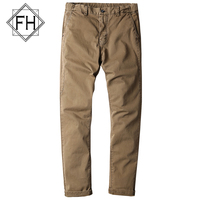 FUHAO New Design Army Green Men S Pants Cotton Straight Trousers Male Slim Fit Casual Khaki