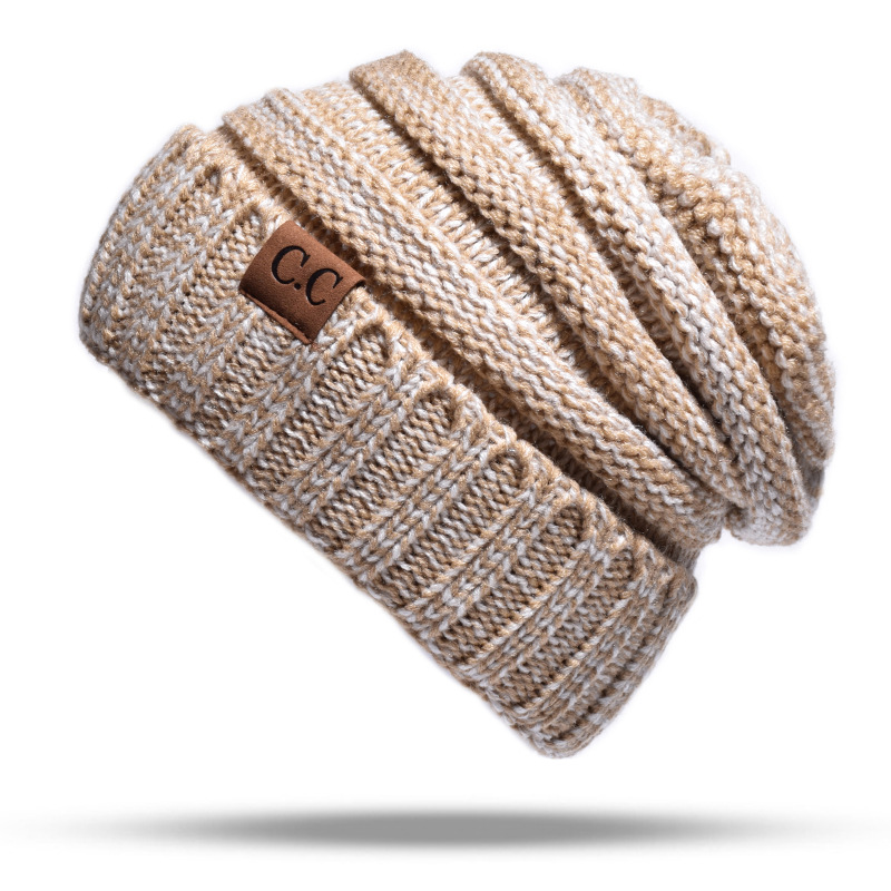 PANJOINER Knit Cap Label Autumn/winter Warm-Top-Cap CC W001 High-Quality