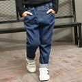 Мальчика Джинсы Брюки Весна и осень Дети детские джинсы корейский мальчик одежда 2-15 Год