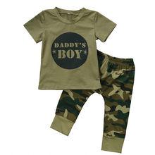 Bebé recién nacido Niño niño CAMO t-shirt tops pantalones trajes set ropa  0-24 m algodón casual manga corta niños conjuntos 84dad18716af