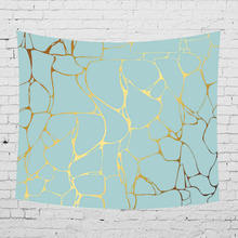 Simple Marble Print Tapestry Wall Hanging Bohemian Beach Mat Polyester Thin Blanket Yoga Shawl Home Decor
