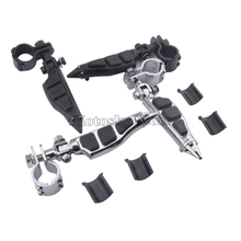 Universal Motorcycle Adjustable Highway Pegs Mount 1-1/4 Footrest Pedal Engine Guard Mounts Clamps For Honda Yamaha Harley motorcycle engine guard mounts clamps adjustable highway pegs mount 1 1 4 footrest pedal for harley honda yamaha suzuki