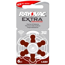 RAYOVAC EXTRA 60 PCS Zinc Air Performance Hearing Aid Batteries A312 312A ZA312 312 PR41 Hearing Aid Battery A312 Free Shipping