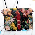 2017 Hot sale Vintage Womens Leather Crossbody Handbag Tote Bags Purse Painting Flowers new clutch organizer messenger bag gift