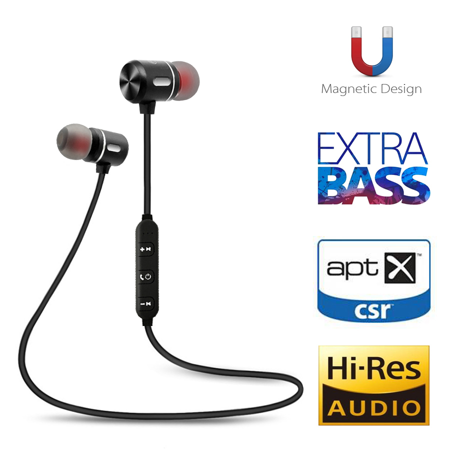 FBYEG Wireless Bluetooth Earphone Headphones Sport Bluetooth Headset Earbuds Magnetic Earpiece With Microphone For Phone
