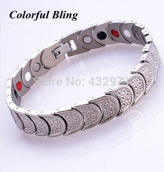 Free Shipping 316l Anium Steel 4 In 1 Bio Magnetic Health Bracelets Germanium Balance