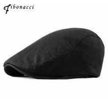 Фибоначчи новые летние однотонные хлопковые льняные газетные шляпы плоские таксисты Гэтсби плюща головные уборы для мужчин и женщин газетные кепки