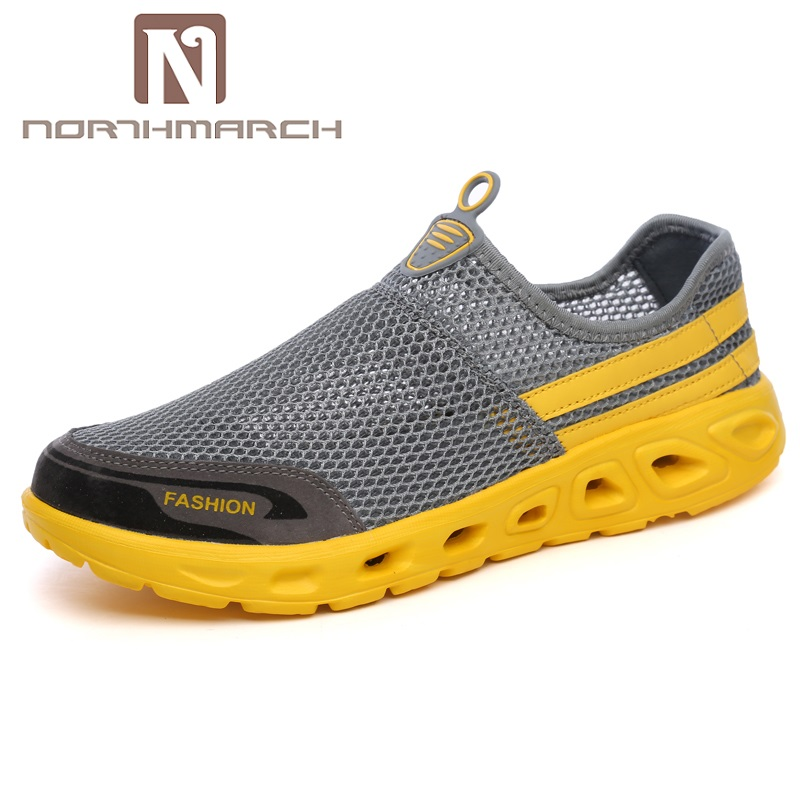 NORTHMARCH Fashion Summer Shoes Men Casual Air Mesh Shoes Men Lace-Up Lightweight Breathable Men Trainers Chaussure Homme