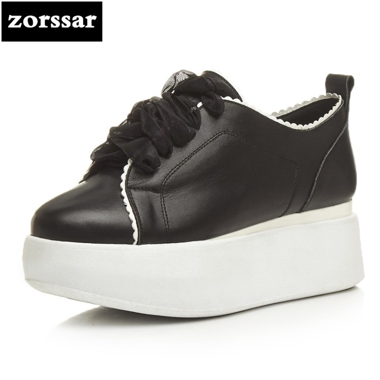 {Zorssar} Brand 2018 Spring New fashion Women sneakers Casual Flats shoes Comfortable flat heel Shoes female platform shoes