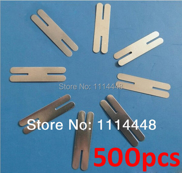 500pcs 0.2x40x8mm H-type Nickel Plated Steel Strap Strip Sheets for battery spot welding machine Welder Equipment welder machine plasma cutter welder mask for welder machine