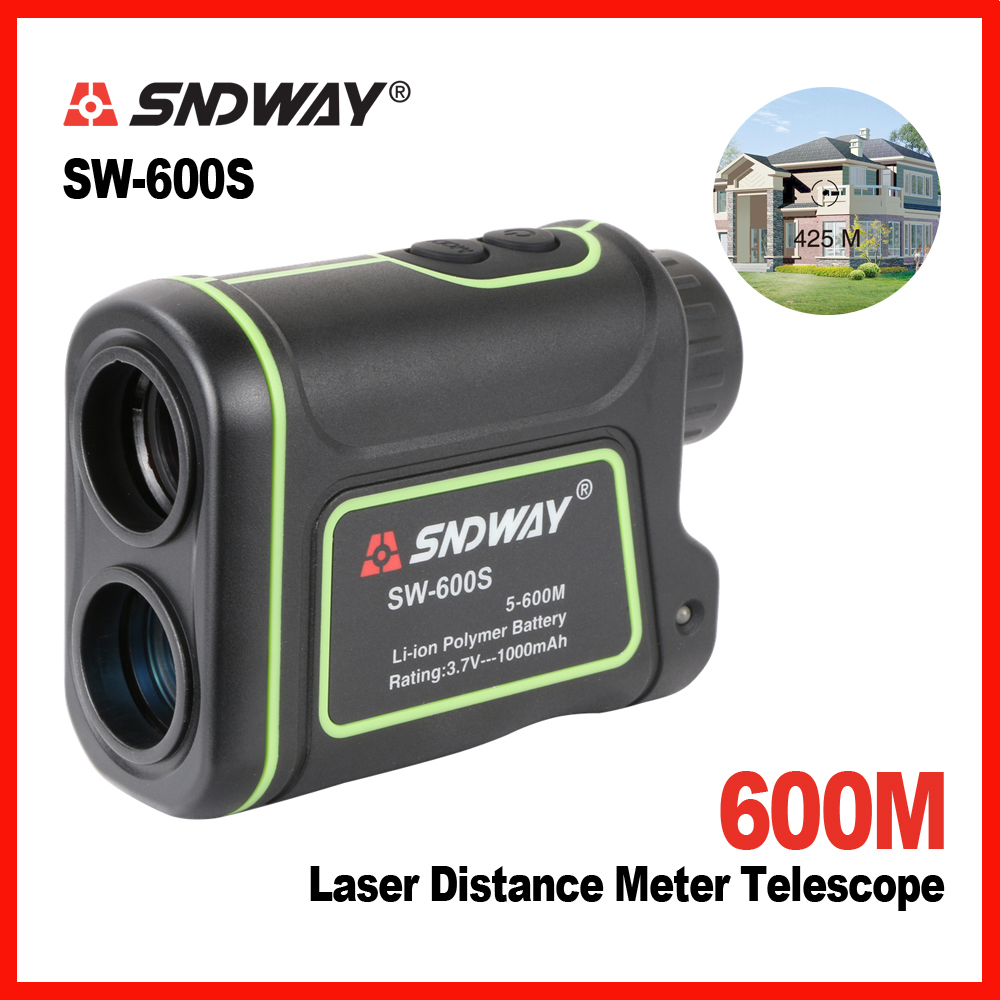 SNDWAY Original Golf Hunting Laser distance meter telescope 600m Rangefinder Range Finder Monocular Digital 8X Trena lixf uyigao monocular laser rangefinder handheld telescope 5 x 600m