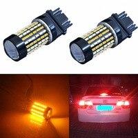 AGLINT 2 STÜCKE LED T25 3157 Switch Led Blinker Licht Automobil Für Universal DC12-24v Weiß Gelb Dual Farbe