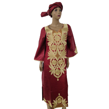 MD 2019 new african traditional dress for women printing dresses bazin riche headtie south africa clothes kaftan