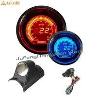 52mm carro turbo boost gauge psi 12 v auto azul vermelho led luz calibres medidor digital + sensor e um pilar suporte de pod movimentação da mão esquerda|lens tinting|psi gauge|lens holder -
