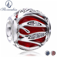 Slovecabin Diy Fit Pandora Charms Bracelets Authentic 925 Sterling Silver Nature S Radiance Glass Crystal Beads