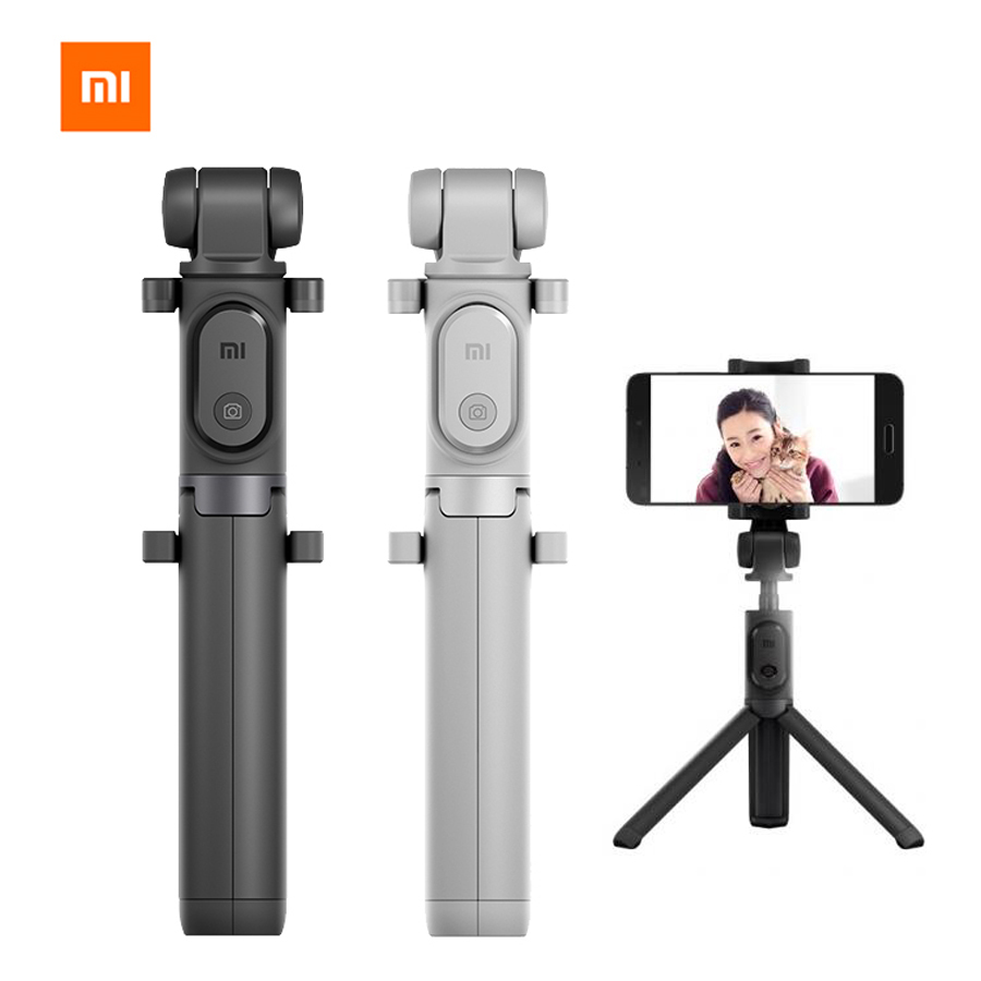 Original Xiaomi Foldable Tripod Selfie Stick Bluetooth Selfiestick With Wireless Shutter Selfie Stick For Xiaomi iPhone Android