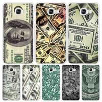 Dollars print Hard White Coque Shell Case Cover Phone Cases for Samsung Galaxy A3 A5 A7 2016 2017 A8 A9