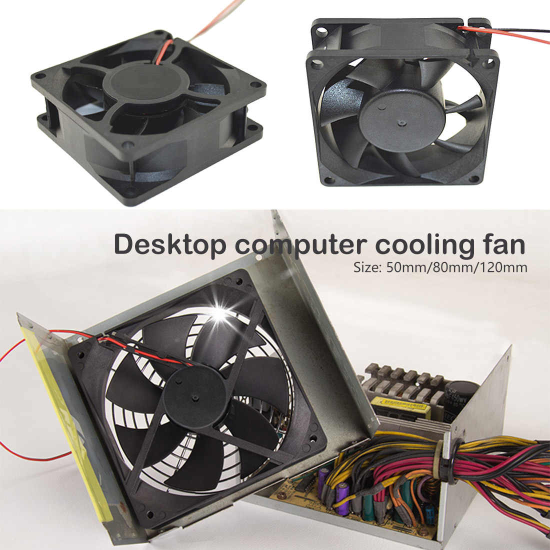 Astonishing 50 80 120Mm 12V 2 Pin Connector Cooling Fan For Computer Beutiful Home Inspiration Aditmahrainfo