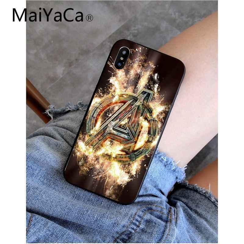 MaiYaCa Deadpool Iron Man Marvel vengadores cliente funda de teléfono de alta calidad para iPhone 6 S 6 plus 7 7 plus 8 8 Plus X Xs X MAX 5 5S XR