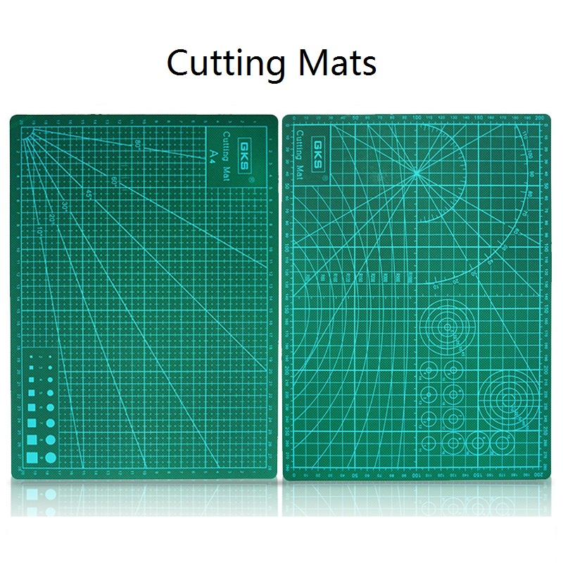A4 High Quality PVC Cutting Mats DIY Self Healing Fabric Leather Paper Craft Cutting Tool Rectangle Grid Lines Double-Side 00901 a4 grid lines cutting mat craft card fabric leather paper board 30 22cm