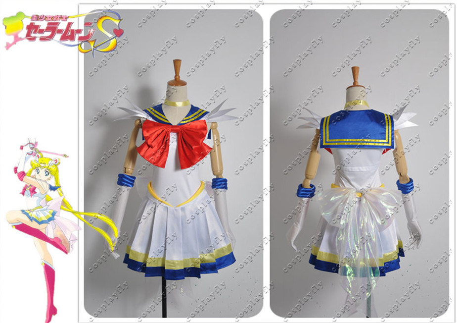 Sailor Moon Usagi Tsukino Second Generation Combat Dress Cosplay Costume Any Size  Summer Dress Skirt Women Clothing