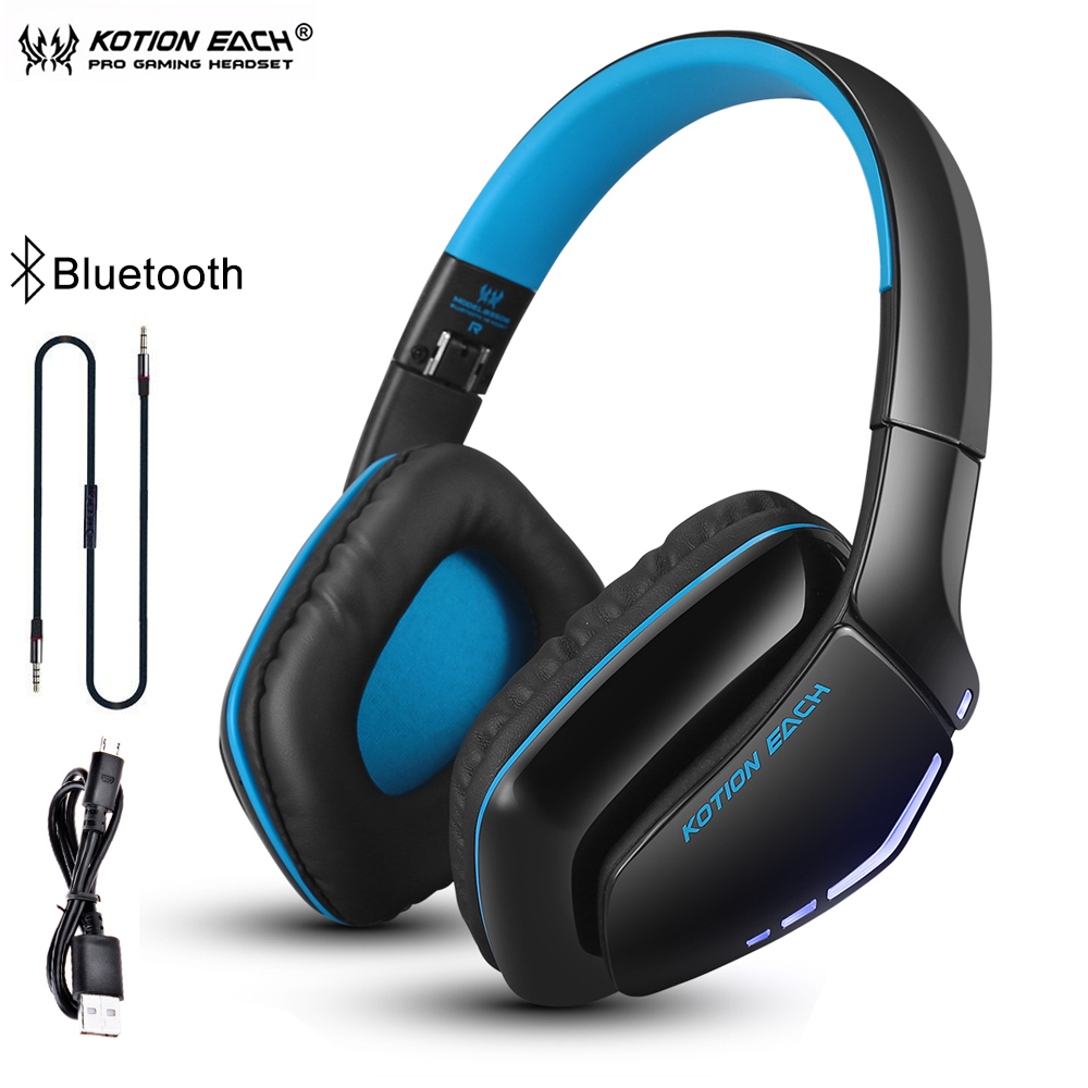 Kotion Each B3506 Bluetooth Headphones Wireless Gaming Headset Foldable Headset V4 1 With Microphone For Phone Ps4 Pc Computers Headphone Headset Aliexpress