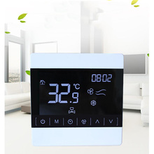 цены LCD touch screen central air conditioning thermostat LCD line controller intelligent temperature regulator temperature controlle