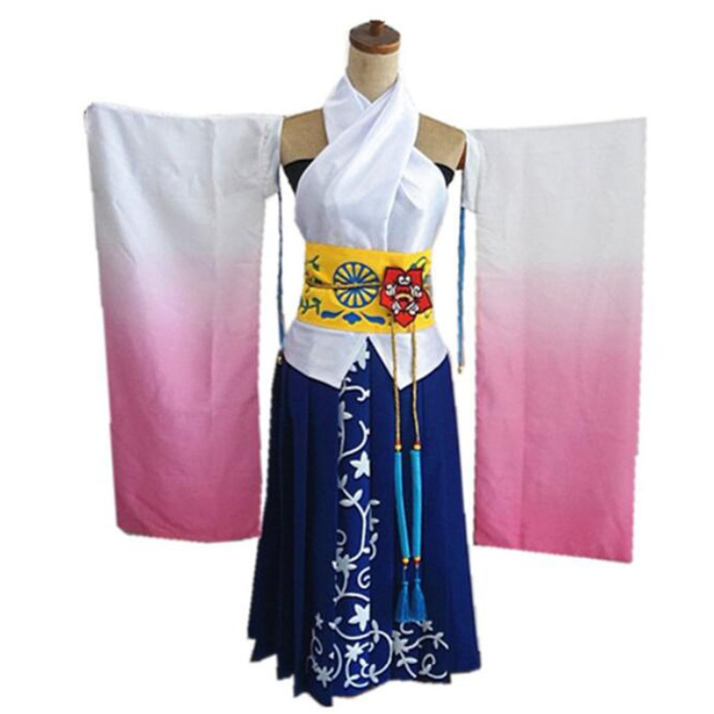 2019 Final Fantasy X 10 Yuna Cosplay Costume Custom Made