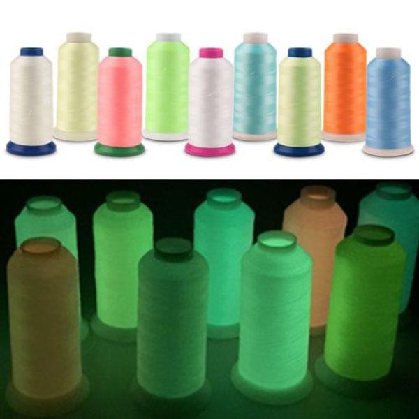 3000 Yards Spool Luminous Glow In The Dark Machine Embroidery Sewing Thread Luminous Sewing Thread