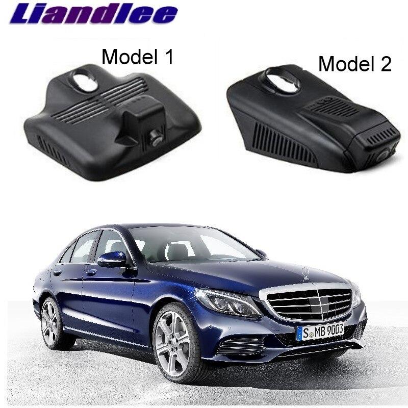 Liandlee For Mercedes Benz C MB W205 2014~2018 Car Black Box WiFi DVR Dash Camera Driving Video Recorder