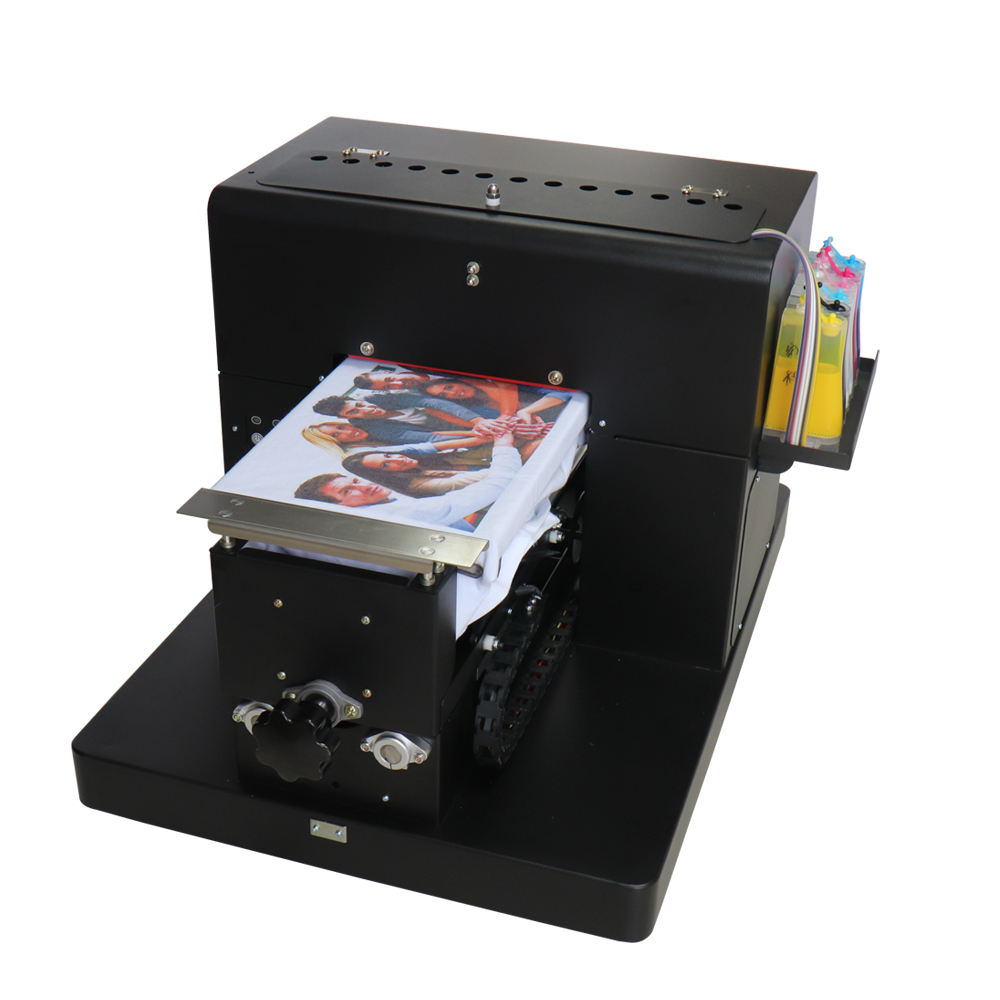 A4 Flatbed Printer DTG Printer T-shirt Printing Machine Multifunctional Printing Machine for t-shirt phone case plastic card