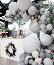 METABLE 100 pcs Matte Balloons Pack of Dark Gray and Balloons, Party for Wedding Baby Shower