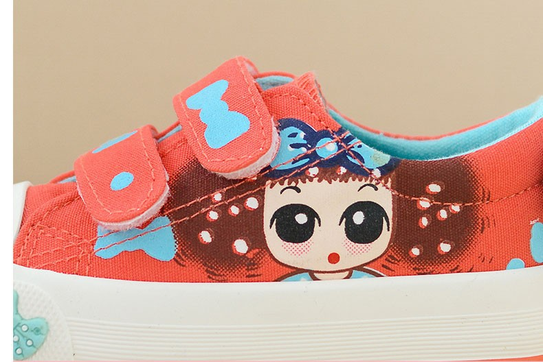 Canvas Children Shoes 17 New Baby Girls Princess Shoes Brand Kids Sneakers for Girls Denim Child Flat Toddler Shoes 7
