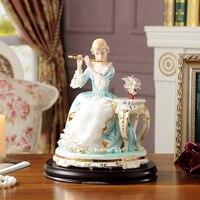Высший сорт Европа Керамические девушки статуя леди домашнего декора ремесла украшение номера Ремесленная старинные украшения фарфоровая