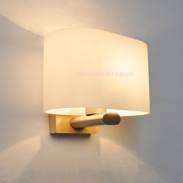 Vintage Lamparas Wall Lamp Bedroom wood Light Cabinet Lamparas ...