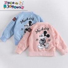 Baby Clothes Cartoon Mickey Pattern Girls Boys Jackets Coats