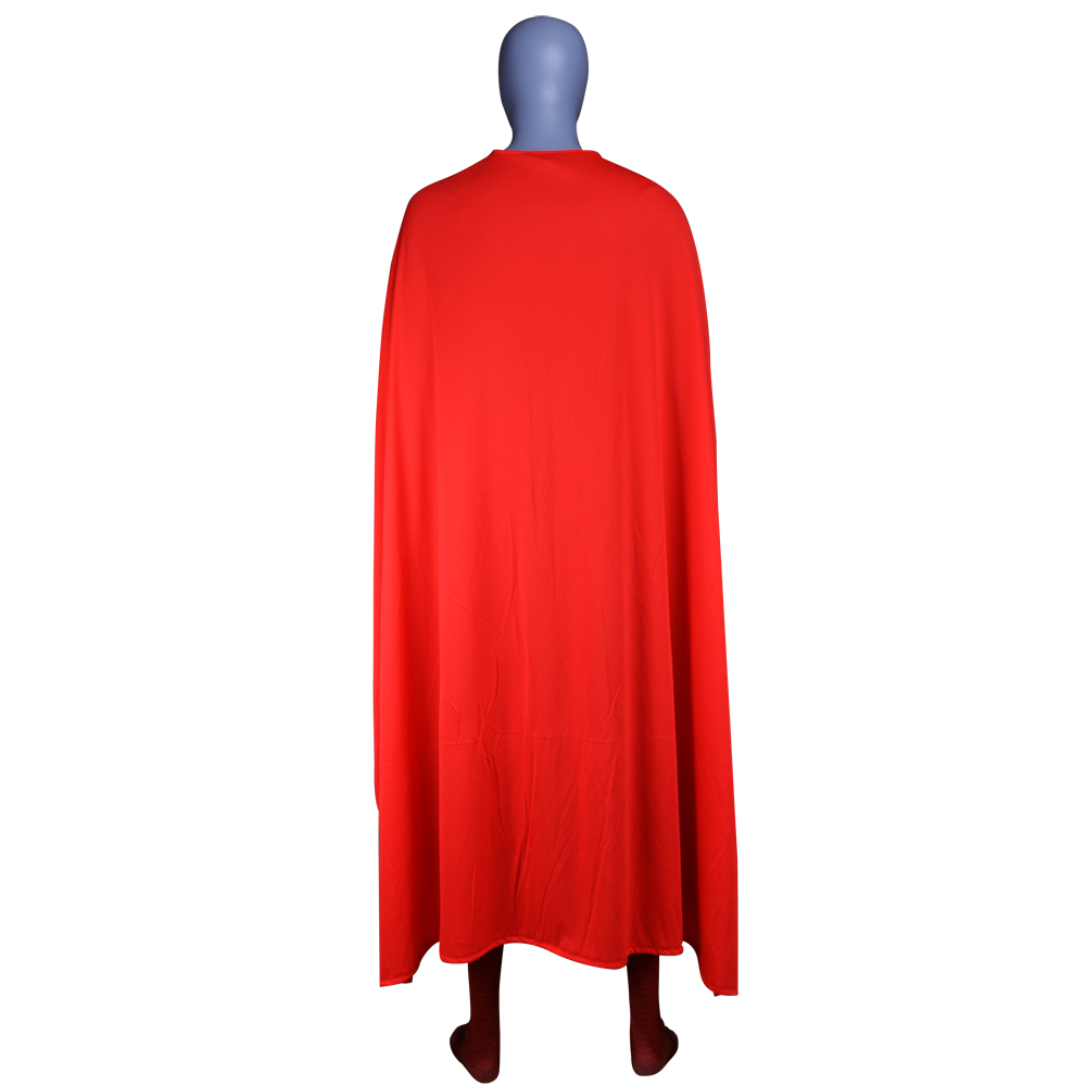 New Superman Costume Man of Steel Cosplay Outfit Deluxe 3D Print Jumpsuit with Red Cape Superhero Halloween Zentai Kids Adult in Movie TV costumes from Novelty Special Use