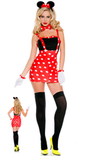 Minie Mouse Costumes Halloween Party Sexy Lovely Dancing Dress For Lady Mickey Cosplay Show Clothes Women Adult