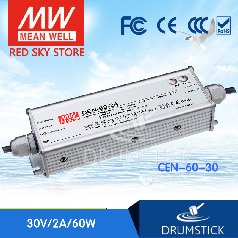 цена на hot-selling MEAN WELL CEN-60-30 30V 2A meanwell CEN-60 30V 60W Single Output LED Power Supply