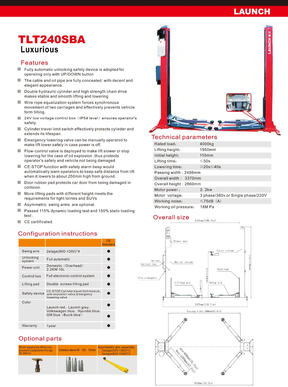 TLT240SBA Launch Lift's Catalogue-10