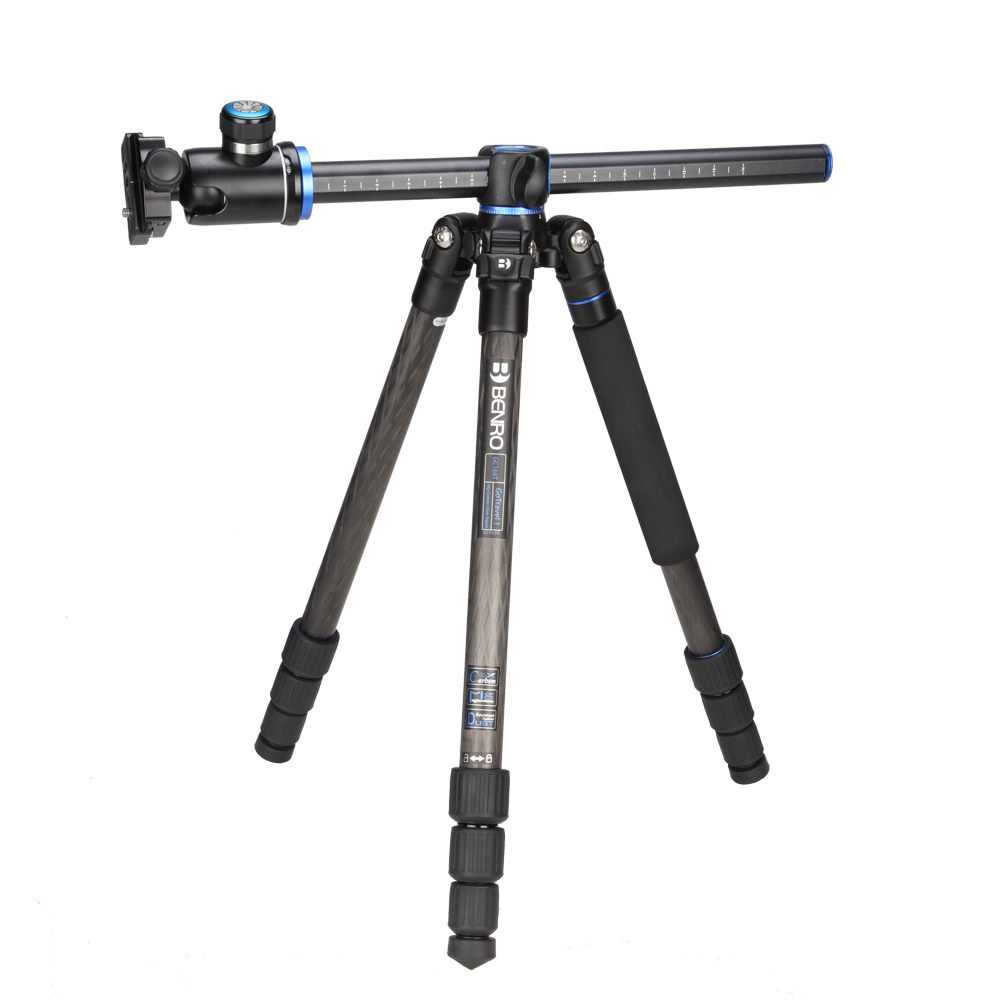 Benro GC168TV1 Tripod Carbon Fiber Tripods Monopod For Camera With V1 Head 4 Section Bag Max Loading 14kg DHL Free Shipping gopro new benro c2692tb1s carbon fiber tripod impreaaion nip detachable monopod travel angel kit four in one free shipping