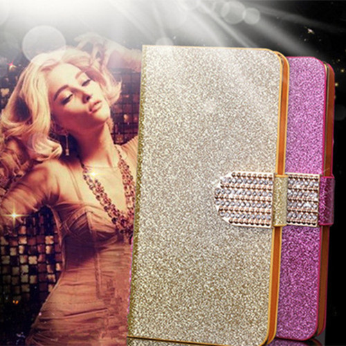 Flip Glitter Leather Phone Case For Samsung Galaxy A3 A5 A7 A8 J1 Mini Nxt Ace J2 J5 J7 2016 Trend Plus S Duos 2 E5 E7 Cover ...