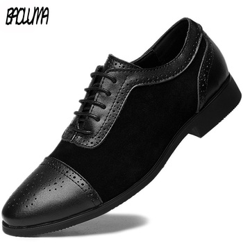 2019 New Arrival Retro Bullock Design Men Classic Business Formal Shoes Pointed Toe Leather Shoes Men Oxford Dress Shoes