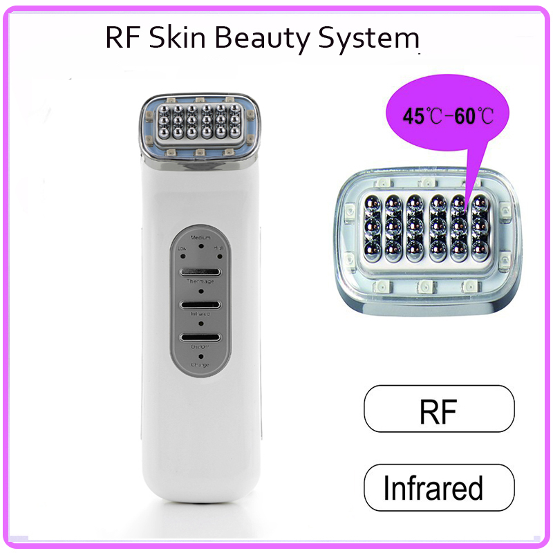 Needle Free Mesotherapy RF Radio Frequency Infrared Microcurrent Skin Lifting Beauty Instrument Free Shipping skin care rf ems radio frequency electroporation needle free mesotherapy instrument mesoterapia facial mesotherapy needle device