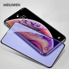 Blue purple light protective glass for iPhone 6 6S 7 8 plus X glass on iphone7 6 8 X R XS screen protector glass on iphone mc100lvel11dr mc100lvel11d on soic 8