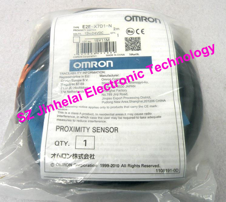 100% New and original  E2E-X7D1-N, E2E-X7D1-N-Z  OMRON  Proximity sensor,Proximity switch, 12-24VDC  2M [zob] new original omron shanghai omron proximity switch e2e x18me1 2m 2pcs lot