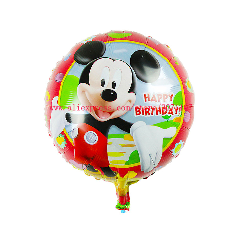Lucky 50pcs Lot 18 Inch Cartoon Duck Mickey Minnie Balloon Foil Helium Balloons For Kids Toys Birthday Party Decoration Globos In Ballons Accessories From