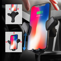 Car Mount Wireless Charger Fast Wireless Charging Pad Car Holder Stand for iPhone Samsung YAN88