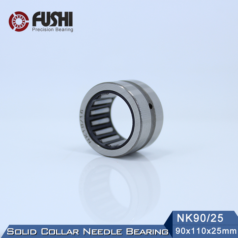 NK90/25 Bearing 90*110*25 mm ( 1 PC ) Solid Collar Needle Roller Bearings Without Inner Ring NK90/25 NK9025 Bearing nk25 30 needle roller bearing without inner ring size 25 33 30mm